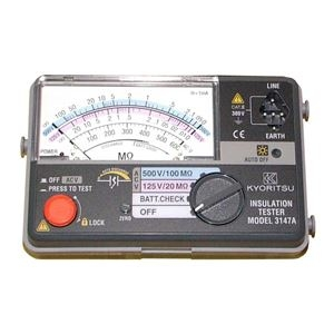 その他 共立電気計器 キューメグ 2レンジ小型絶縁抵抗計 3147A【】 ds-1656438