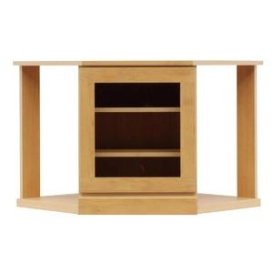 その他 4段コーナー家具/リビングボード 【幅75cm】 木製(天然木) 扉収納付き 日本製 ナチュラル 【完成品 開梱設置】【代引不可】 ds-1645557