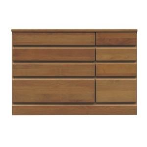 その他 4段チェスト/ローチェスト 【幅90cm】 木製(天然木) 日本製 ブラウン 【完成品 開梱設置】 ds-1652630