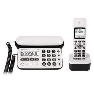 その他 パイオニア デジタルコードレス留守番電話機(子機1台) ピュアホワイト TF-SD15S-PW ds-1663086
