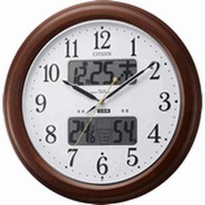 リズム時計 高精度温湿度計付 電波掛時計 インフォームナビEX 4FY620-006