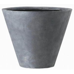その他 軽量植木鉢/プランター 【深型 グレー 直径60cm】 穴有 ファイバー製 『LLシンプルコーン』 ds-1701647