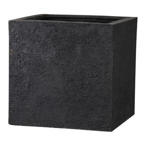 その他 樹脂製 植木鉢/プランター 【ブラック 幅50cm】 底穴あり 新素材ポリストーンライト使用 『リガンデ キューブ』 ds-1703088
