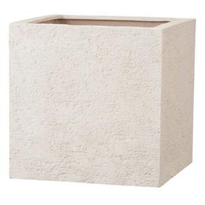 その他 樹脂製 植木鉢/プランター 【アイボリー 60cm】 底穴あり 新素材ポリストーンライト使用 『リガンデ キューブ』 ds-1703092