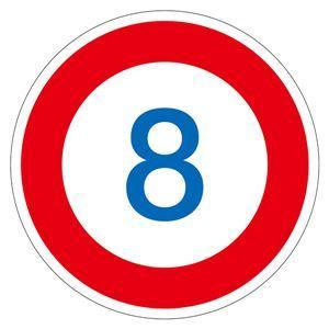 その他 路面道路標識 8 路面-323-8 【単品】 ds-1713445
