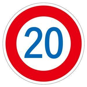 その他 路面道路標識 20 路面-323-20 【単品】 ds-1713448