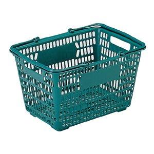 その他 (業務用30個セット)三甲(サンコー) サンショップカーゴ/買い物かご 【17L】 プラスチック製 把手付き グリーン(緑) ds-1718350