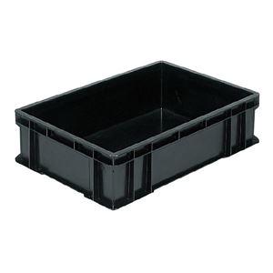 その他 (業務用5個セット)三甲(サンコー) ベタ目コンテナボックス/サンボックス 導電性PP 56C ブラック(黒) ds-1718845