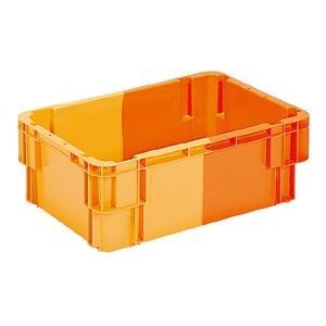 その他 (業務用5個セット)三甲(サンコー) SNコンテナ/2色コンテナボックス 【Bタイプ】 孔有 #36 オレンジ×オレンジ ds-1718851