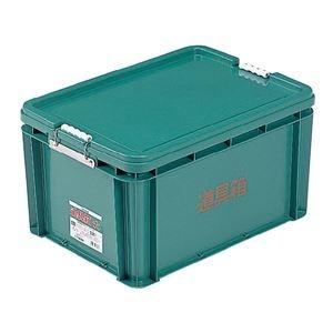 その他 (業務用6個セット) 三甲(サンコー) 左官用道具箱/ツールボックス 【大】 PP製 グリーン(緑) 【代引不可】 ds-1718907