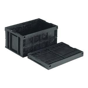 その他 (業務用5個セット)三甲(サンコー) 折りたたみコンテナボックス/オリコン 【76L】 導電 75B ブラック(黒) ds-1718988