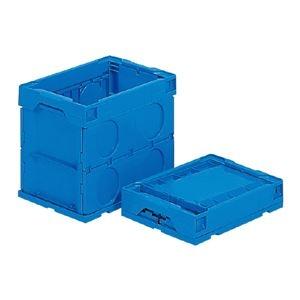 その他 (業務用10個セット)三甲(サンコー) 折りたたみコンテナボックス/オリコン 【27L】 プラスチック製 P27B ブルー(青) ds-1719029