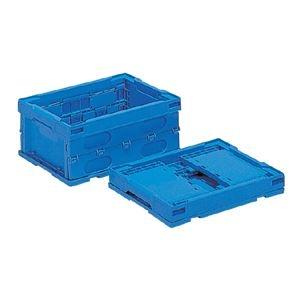 その他 (業務用10個セット)三甲(サンコー) 折りたたみコンテナボックス/オリコン 【13L】 プラスチック製 P14B ブルー(青) ds-1719032