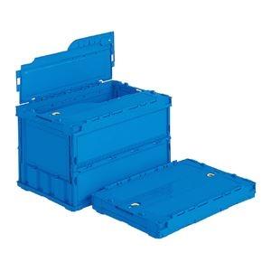 その他 (業務用5個セット)三甲(サンコー) 折りたたみコンテナボックス(ペタンコ/サンクレットオリコン) C-50B ブルー(青) 【代引不可】 ds-1719125