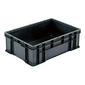 その他 (業務用5個セット)三甲(サンコー) 導電性コンテナボックス/テンバコ 【48.3L】 段積み可 ED-52 ブラック(黒) ds-1719199