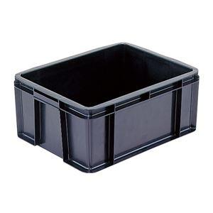 その他 (業務用5個セット)三甲(サンコー) 導電性コンテナボックス/テンバコ 【26.3L】 段積み可 ED-28 ブラック(黒) ds-1719205