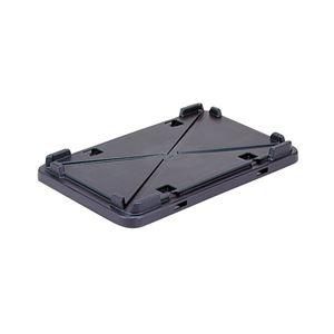 その他 (業務用10個セット)三甲(サンコー) 導電性コンテナボックス/テンバコ用蓋 単品 段積み可 ED-FN2フタ ブラック(黒) ds-1719222