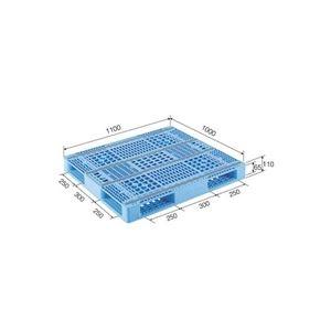 その他 (業務用2個セット)三甲(サンコー) プラスチックパレット/プラパレ 【両面使用型】 段積み可 R4-1011-2 ライトブルー(青) 【代引不可】 ds-1719445