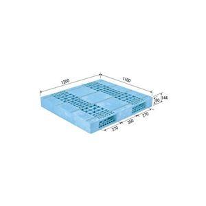 その他 (業務用2個セット)三甲(サンコー) プラスチックパレット/プラパレ 【両面使用型】 段積み可 R2-1112F ライトブルー(青) 【代引不可】 ds-1719533