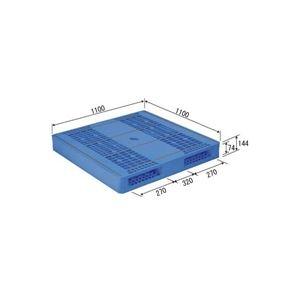 その他 (業務用2個セット)三甲(サンコー) プラスチックパレット/プラパレ 【両面使用タイプ】 軽量 LX-1111R2-3(PP) ブルー(青) 【代引不可】 ds-1719614
