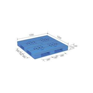 その他 (業務用2個セット)三甲(サンコー) プラスチックパレット/プラパレ 【両面使用タイプ】 軽量 LX-1212R4 ブルー(青) 【代引不可】 ds-1719622