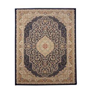 その他 トルコ製 ウィルトン織り カーペット 絨毯 ホットカーペット対応 『ベルミラ RUG』 ネイビー 約240×240cm ds-1725503