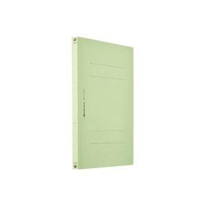 その他 (業務用200セット) フラットファイル/紙バインダー 【A4/2穴 10冊入り】 タテ型 グリーン(緑) D017J-GR ds-1730568