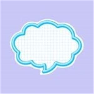その他 (業務用100セット) タカ印 抜型カード 16-4193 吹出大 ブルー 50枚 ds-1731777