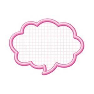 その他 (業務用100セット) タカ印 抜型カード 16-4192 吹出大 ピンク 50枚 ds-1731778