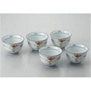 その他 (業務用20セット) ピーアンドエス 染赤絵煎茶碗 5客揃/10301 ds-1735843