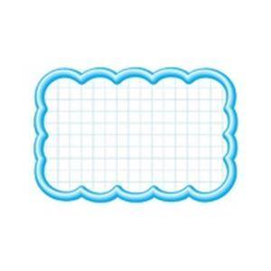その他 (業務用100セット) タカ印 抜型カード 16-4117 雲形中 ブルー ds-1738951