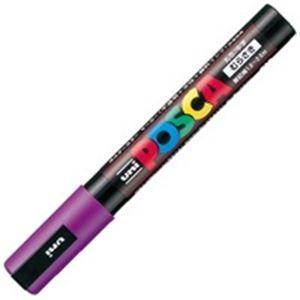 その他 (業務用200セット) 三菱鉛筆 ポスカ/POP用マーカー 【中字/紫】 水性インク PC-5M.12 ds-1740141