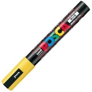 その他 (業務用200セット) 三菱鉛筆 ポスカ/POP用マーカー 【中字/黄】 水性インク PC-5M.2 ds-1740172