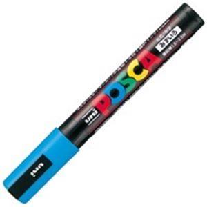 その他 (業務用200セット) 三菱鉛筆 ポスカ/POP用マーカー 【中字/水色】 水性インク PC-5M.8 ds-1740173