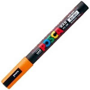 その他 (業務用200セット) 三菱鉛筆 ポスカ/POP用マーカー 【細字/橙】 水性インク PC-3M.4 ds-1740182