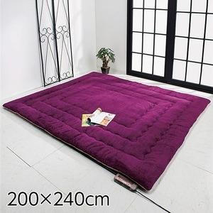 その他 ふっかふかラグマット 単品 ds-1726481【厚さ3cm 3畳用 約200×240cm】 3畳用 床暖可 パープル(紫)【厚さ3cm ds-1726481, FEELPROJECT:b6d8cf2c --- m2cweb.com