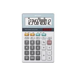 その他 (業務用30セット) シャープ SHARP 環境配慮電卓 ミニナイスサイズ EL-M712K ds-1740458