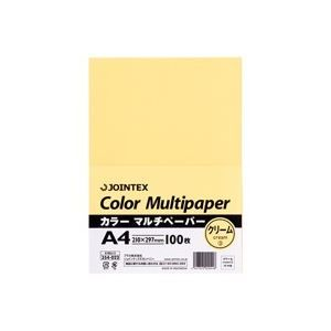 その他 (業務用100セット) ジョインテックス カラーペーパー/コピー用紙 マルチタイプ 【A4】 100枚入り クリーム A180J-3 ds-1740714