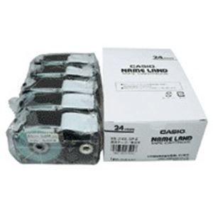 その他 (業務用5セット) カシオ計算機(CASIO) テープ XR-24X-5P-E 透明に黒文字 24mm 5個 【×5セット】 ds-1741867