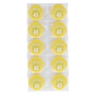 その他 (業務用50セット) ミツヤ カラーマグネット MR-40 黄 40mm 10個 ds-1742455