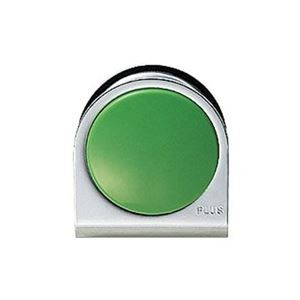 小 カラーマグネット (業務用100セット) プラス その他 クリップ ds-1744735 緑