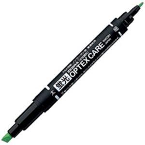 その他 (業務用300セット) ZEBRA ゼブラ 蛍光マーカー/蛍光オプテックスケア 【緑】 水性顔料インク WKCR1-G ds-1745635
