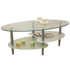 その他 強化ガラステーブル(ローテーブル) 高さ43cm スチール脚 棚収納/アジャスター付き ホワイト(白)【代引不可】 ds-1747484