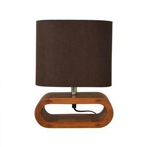 その他 テーブルライト(卓上照明器具) 北欧 ファブリック×天然木 ELUX(エルックス) UROS Table ブラウン 【電球別売】 ds-1748111