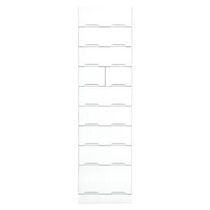 その他 タワーチェスト 【幅50cm】 スライドレール付き引き出し 日本製 ホワイト(白) 【完成品】【玄関渡し】【代引不可】 ds-1752710