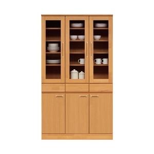 その他 ダイニングボード(食器棚/キッチン収納) 【幅105cm】 木製 ガラス扉 日本製 ナチュラル 【MORRIS】モーリス 【完成品】【代引不可】 ds-1752933