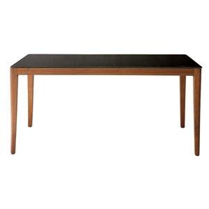 その他 あずま工芸 ダイニングテーブル 幅150cmガラス天板 ダークブラウン【2梱包】 GDT-7680 ds-1754081