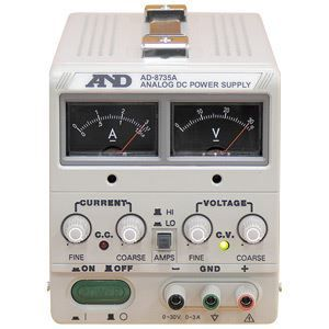 その他 A&D(エーアンドデイ)電子計測機器 直流安定化電源(30V、3A)AD-8735A【代引不可】 ds-1747296