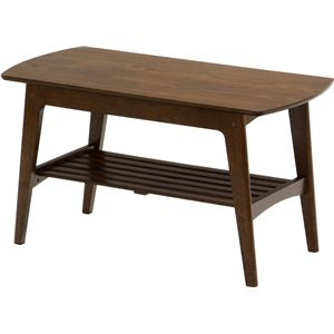 その他 センターテーブル/リビングテーブル ロージー 【幅90cm】 木製 収納棚付き 木目調 ds-1806905
