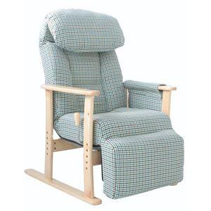 その他 リクライニングチェア(高座椅子) フットレスト/肘付き 無段階ガス式 BL ブルー(青) ds-1806930